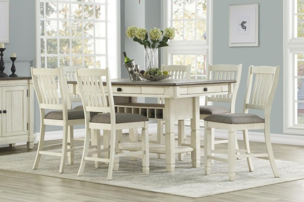 Nubrownburg 7 Pcs Counter Dining Set