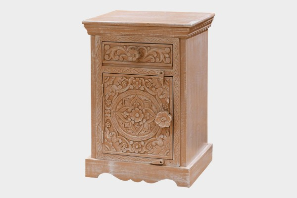 Carved Bed Side Table