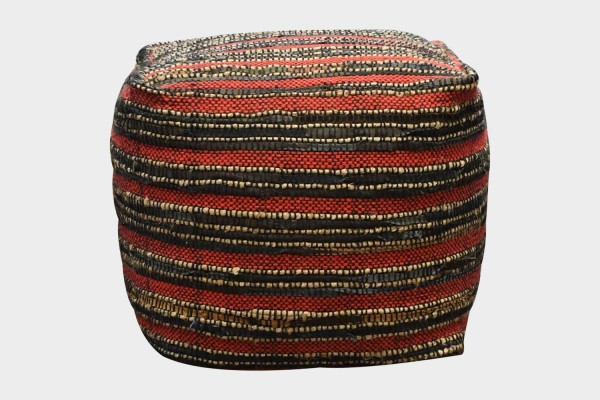 Darlan Pouf (Red / Multi)